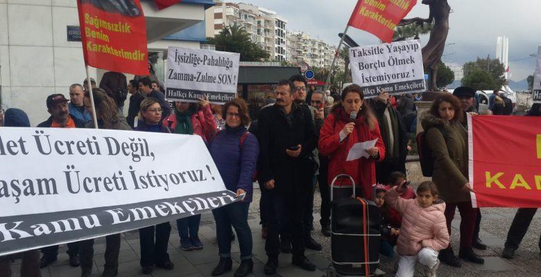 Halkçı Kamu Emekçileri olarak İzmir ve İstanbul'da sefalet ücretlerini protesto ettik